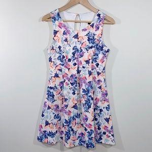 Teez Me   Watercolor Floral Sleeveless Mini Dress